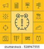 set of 12 project management... | Shutterstock .eps vector #528967555