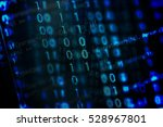 digital binary data on computer ... | Shutterstock . vector #528967801