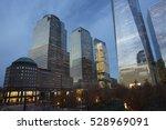 area around 9 11 memorial with... | Shutterstock . vector #528969091