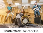 young band music playing a song ... | Shutterstock . vector #528970111