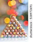 christmas tree pencils and... | Shutterstock . vector #528972691