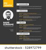 vector minimalist cv   resume... | Shutterstock .eps vector #528972799