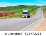 truck on the federal highway | Shutterstock . vector #528973285
