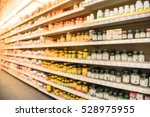 blurred image of vitamin store... | Shutterstock . vector #528975955