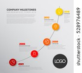vector infographic timeline... | Shutterstock .eps vector #528976489