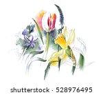 beautiful spring flowers... | Shutterstock . vector #528976495