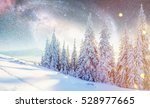dairy star trek in the winter... | Shutterstock . vector #528977665