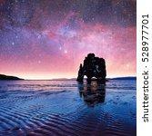 hvitserkur 15 m height.... | Shutterstock . vector #528977701
