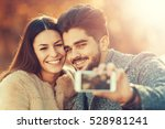 happy moments together.young... | Shutterstock . vector #528981241