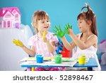 children drawing in the nursery | Shutterstock . vector #52898467