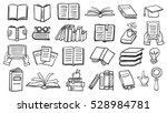 set of books doodles | Shutterstock .eps vector #528984781