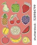 hand drawn fruits | Shutterstock .eps vector #528984799