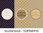 delicate geometric ornament... | Shutterstock .eps vector #528988945