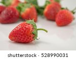 Strawberry On White Background.