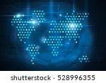 stars world map on blue...   Shutterstock . vector #528996355