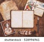 vintage watercolor mockup....   Shutterstock . vector #528996961