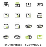 simple set of box and crates... | Shutterstock .eps vector #528998071