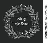 christmas greeting wreath.... | Shutterstock .eps vector #528998701