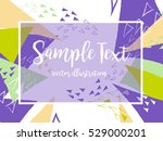 creative abstract colorful... | Shutterstock .eps vector #529000201