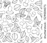 seamless doodle pattern with... | Shutterstock .eps vector #529004071