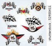 racing set   vector signs | Shutterstock .eps vector #52900411