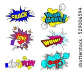 colorful  patch badges  speech... | Shutterstock .eps vector #529006594
