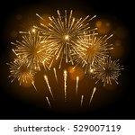 vector holiday firework | Shutterstock .eps vector #529007119