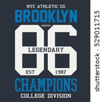 college brooklyn typography  t... | Shutterstock .eps vector #529011715