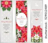 set of three vertical banners.... | Shutterstock .eps vector #529012489