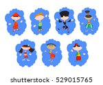 stylized people in national... | Shutterstock .eps vector #529015765
