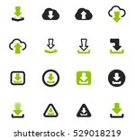 download icon set for web sites ... | Shutterstock .eps vector #529018219
