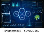 abstract hud ui interface... | Shutterstock .eps vector #529020157