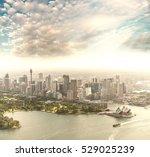 sydney aerial skyline  harbour... | Shutterstock . vector #529025239