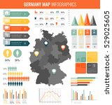 germany map with infographic... | Shutterstock .eps vector #529025605