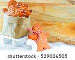 gingerbread man cookies | Shutterstock . vector #529026505