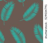 palm leaf seamless pattern... | Shutterstock . vector #529034791