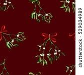seamless watercolor christmas... | Shutterstock . vector #529034989