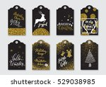 christmas  new year gift tags... | Shutterstock .eps vector #529038985