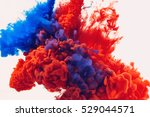 ink drop in water. abstract...   Shutterstock . vector #529044571