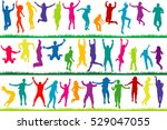 collection of colored children... | Shutterstock . vector #529047055