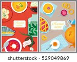 set russian national food. food ... | Shutterstock .eps vector #529049869