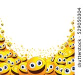 funny abstract smiley...   Shutterstock .eps vector #529050304