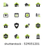 real estate icons set for web... | Shutterstock .eps vector #529051201