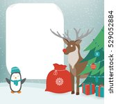 christmas card with christmas... | Shutterstock .eps vector #529052884