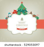 christmas card with christmas... | Shutterstock .eps vector #529053097