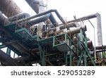 crossed pipes of heavy industry ... | Shutterstock . vector #529053289