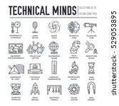 technical minds collection of... | Shutterstock .eps vector #529053895