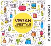 vector vegetable elements... | Shutterstock .eps vector #529053925
