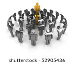business concept. a leader with ... | Shutterstock . vector #52905436