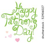 father's day greeting card  ... | Shutterstock . vector #52906027